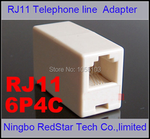 [RedStar]200PCS/LOT RJ11 Telephone cable extention connector Female to Female extension Adapter RJ11 through head