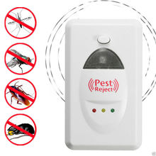 Useful 110V-220V 50Hz EU Plus Ultrasonic Electronic Pest Repeller Reject Anti-Mosquito Ants Spiders Bug Insect 200 Square Meter