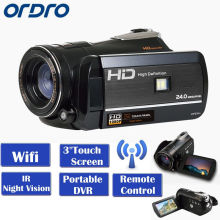 "ORDRO HDV-D395 Portable Camcorders Full HD 1080P 18X 3.0"" Touch Screen Digital Video Camera Recorder DV Wifi Night Vision(China)"