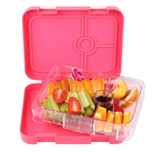 Salad Bento Lunch Box for Kids Children Aged 7-17 Years Old with 4 Compartments,FDA Approved Food Container Storage Case