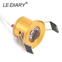 LEDIARY Gloden Mini LED Downlight Under Cabinet Spot Light 1.5W Jewelry Display Ceiling Recessed Lamp 90-260V Minidownlight
