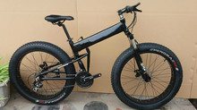 Kalosse folding mountain bicycle    Folding 26*4.0 Tires  Hydraulic brakes Snow  bicycle, 21/24/27/30speed ,fat bikes