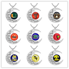 no design n fashion Choker Necklace Pendants all team NCAA Oregon Ducks Charms Football Fans Gifts i love moon back necklace