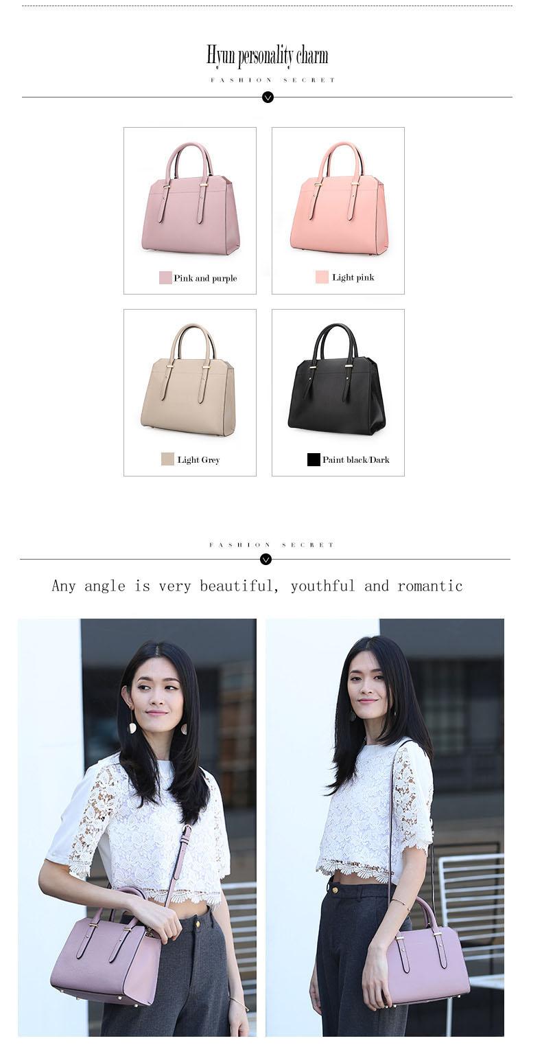 Famous luxury Brands Women Genuine Leather Bag Ladies Tote Embossed leather Boston handbags 2017 Fashion Female Versatile BagH51340227 (4)111