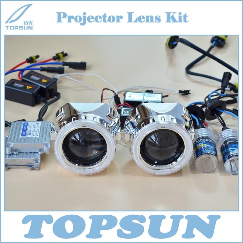 2.5 WST Projector Lens, Shroud, 35W H1 HID Xenon Bulb, TOPSUN Ballast, CCFL Angel Eyes 6 Colors, Car Light Kit Free Shipping<br><br>Aliexpress