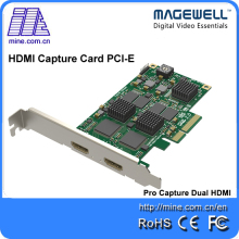 Magewell Pro capture Dual HDMI new generation 2 channels HDMI video capture TV Tuner cards(China)