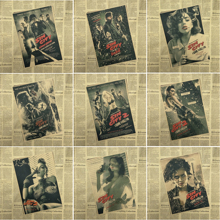Sin City / core /Classic Movie Wallpaper / Retro Nostalgia / Advertising Posters / Bar Decorative Painting