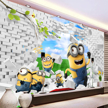 3D Stereo Cartoon Mural Kid's Room Living Room Brick Wallpaper Eco-friendly Fiber Decor Wall Coating 3D Colorful Wall Paper Roll