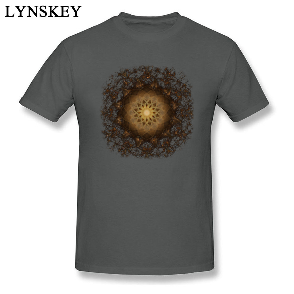 100% Cotton Tops Tees Copper Mandala for Boys Printed On T-Shirt Casual Prevailing Round Neck Short Sleeve Sweatshirts Copper Mandala carbon