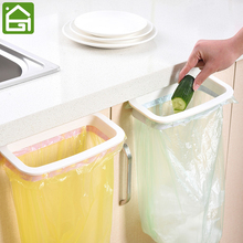Cupboard Door Hanging Organizer Rack Cabinet Garbage Bags Holder Kitchen Trash Bag Storage Hanger