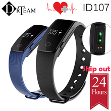 New Smart Wristband ID107 Smart band Heart Rate Monitor pulsometer Fitness Tracker for ios 7.0 Android 4.4 Pedometer Bracelet