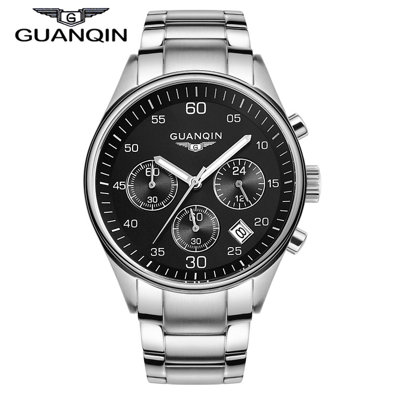 New Arrival Luxury Brand Stainless Steel Army Watches Men Fashion Luminous Quartz Watch Clock With Calendar Chronograph<br>