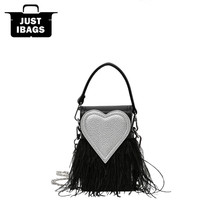 Ostrich hair women mini handbags Quality PU leather Flap crossbody bags Heart Shape Chains Brand Cover Shoulder Bag ladies totes