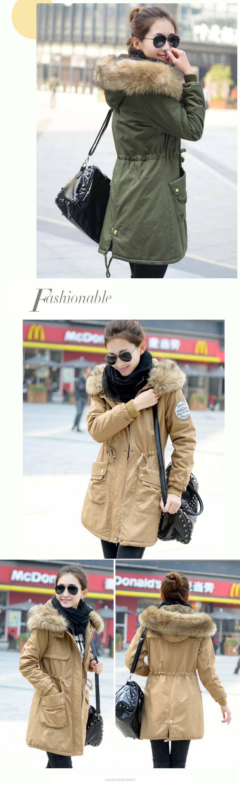 معطف السيدات متوسطة الطويلة 8