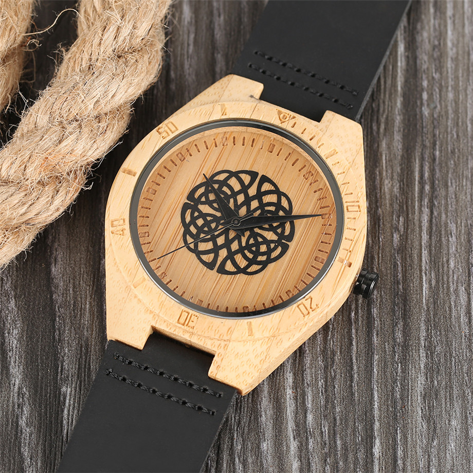 genuine leather band creative watches for men11
