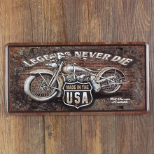 Painting Motorcycle Garage Poster Retro House Tin sign Coffee Decor License Plate Art Wall Metal Painting Carft 15*30 CM plaques