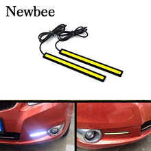 Newbee 2Pcs Car-Styling Daytime Running Light Waterproof COB DRL Driving Fog Lamp For BMW E46 Volkswagen VW Skoda Ford Honda(China)