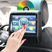 "Quality HD Black 9"" Inch LED digital Touch Screen Car Monitor Car DVD Player + HDMI Game Joystick USB IR FM Speaker 800*480"