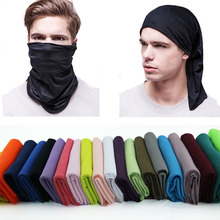 Microfiber  Tubular Multifunction Motorcycle Scarf Headband Seamless Tube Bandanas Solid Bandanas Pure color hip-hop Cap
