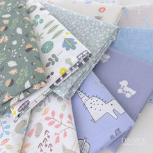 160x50cm Spring Lovely Animal Cartoon Green Plants Twill Cotton Cloth Make Dress Baby Clothes Garment Diy Bedding Apron Fabric(China)