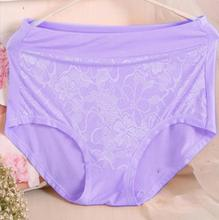 AS07 2016 Mother Underwears Plus Size M-6XL Hight Waist Panties Women Briefs Lace Flower Sexy Lingerie Underwears