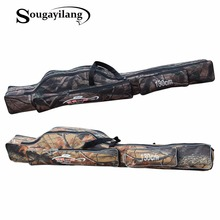 Sougayilang Camouflage 1.3M Fishing Bag Large Capacity 2 Layers Fishing Rod Tackle Bag Fishing Bag Waterproof Fishing Rod Bag