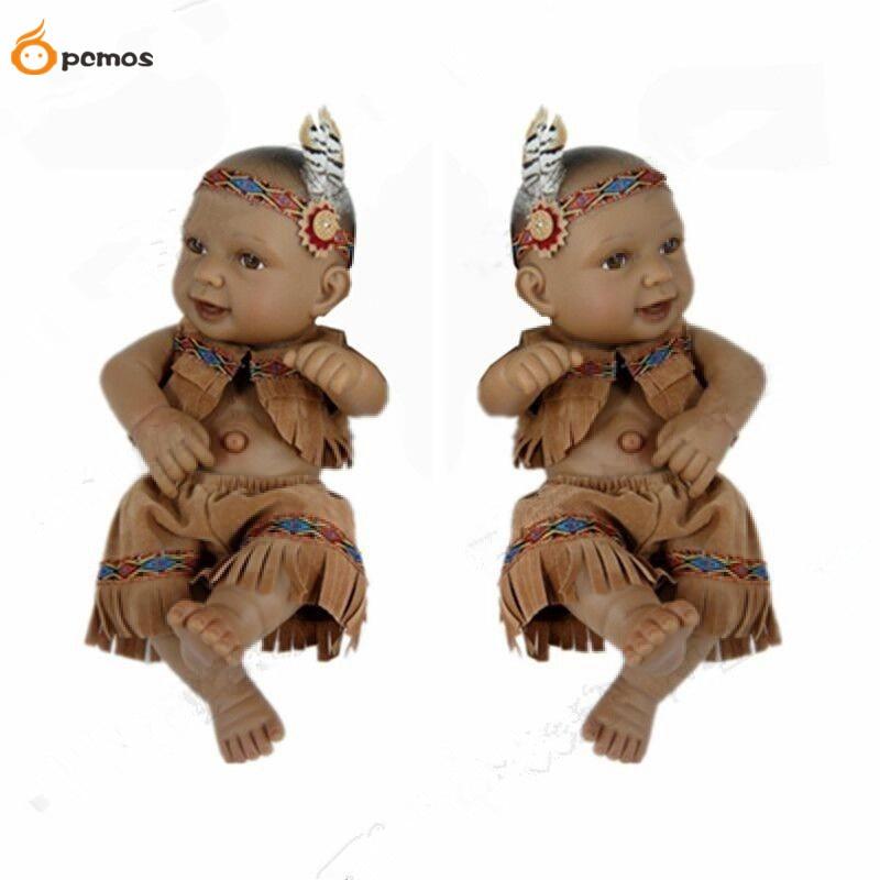[PCMOS] 2017 New  11 Lifelike Native American Indian Boy Reborn Doll Vinyl Handmade Baby Doll 1pc  Free Shipping 15110702<br><br>Aliexpress
