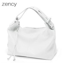 New Hot Selling OL Style 100% Soft Genuine Leather Handbags Lady Women Female Tote Bag Satchel Bolsos White Color