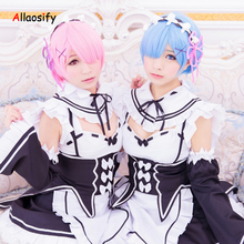 Allaosify RE: ZERO - Starting Life in Another World Cosplay Wig Synthetic Long Wig For Black Women Cosplay Wig(China)