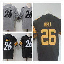Mens 26 LeVeon Bell Jersey 2017 Rush Salute to Service High Quality Football Jerseys(China)