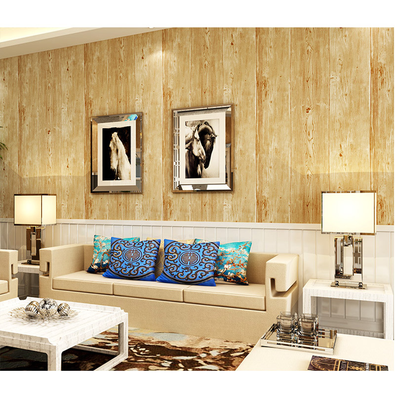 Free Shipping 10M Thick Wood Texture Printing PVC Waterproof Living Room Desktop Wallpaper Mural Papel de parede WP16009<br>