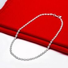 Women Silver Chain Necklace Fashion Dress Accessories Jewelery Length 45CM Top Quality collier femme ANGELTEARS