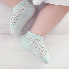 Toddler Breathable Newborn Baby Summer Solid Color Hollow Out Socks Boy Girl Soft Sock Kids Socks 0-3 Y(China)