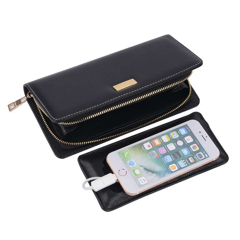 Valentine Gift Supper Wallet with 6000 mAh Battery Multifunction Long Wallets 8 Color Novel Gift Men Wallets Women Purse<br>