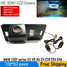 wireless parking rearview camera SONY CCD backup  waterproof with parking lines for BMW 1357 series X3 X5 X6 Z4 E39 E53 E46