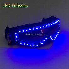 Fashion Glowing ski goggles glasses led Rave party led glasses for Easter Christmas Halloween Birthday Night Bar Dance Decor(China)