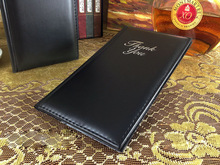 1pcs standard PVC  leather check folder restaurant hotel coffee shop, cheque holder, checkbook holder