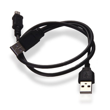 new Black USB 2.0 A To Y Power Data Cable B Male And Mini Port 5-Pin For Mobile HDD