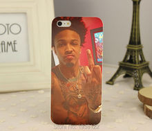 hot August Alsina -1 hard white Skin Case for iphone 5 5S 4 4g 4S 5C Retail