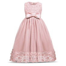 New Designers Kids Dresses For Girl Beauty Lace Princess Long Evening Prom Party Tutu Birthday Dress Girl Children's Costume 10T