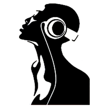 9.8CM*14CM Interesting Listening Music Soul Headphones Decor Decal Vinyl Car Sticker Black/Silver S9-0818