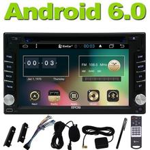 Android 6.0 GPS Navi Map In Deck Car Stereo Automotive Radio 2 Din Monitor Autoradio Car DVD Player RDS Audio EQ Steering Wheel(China)