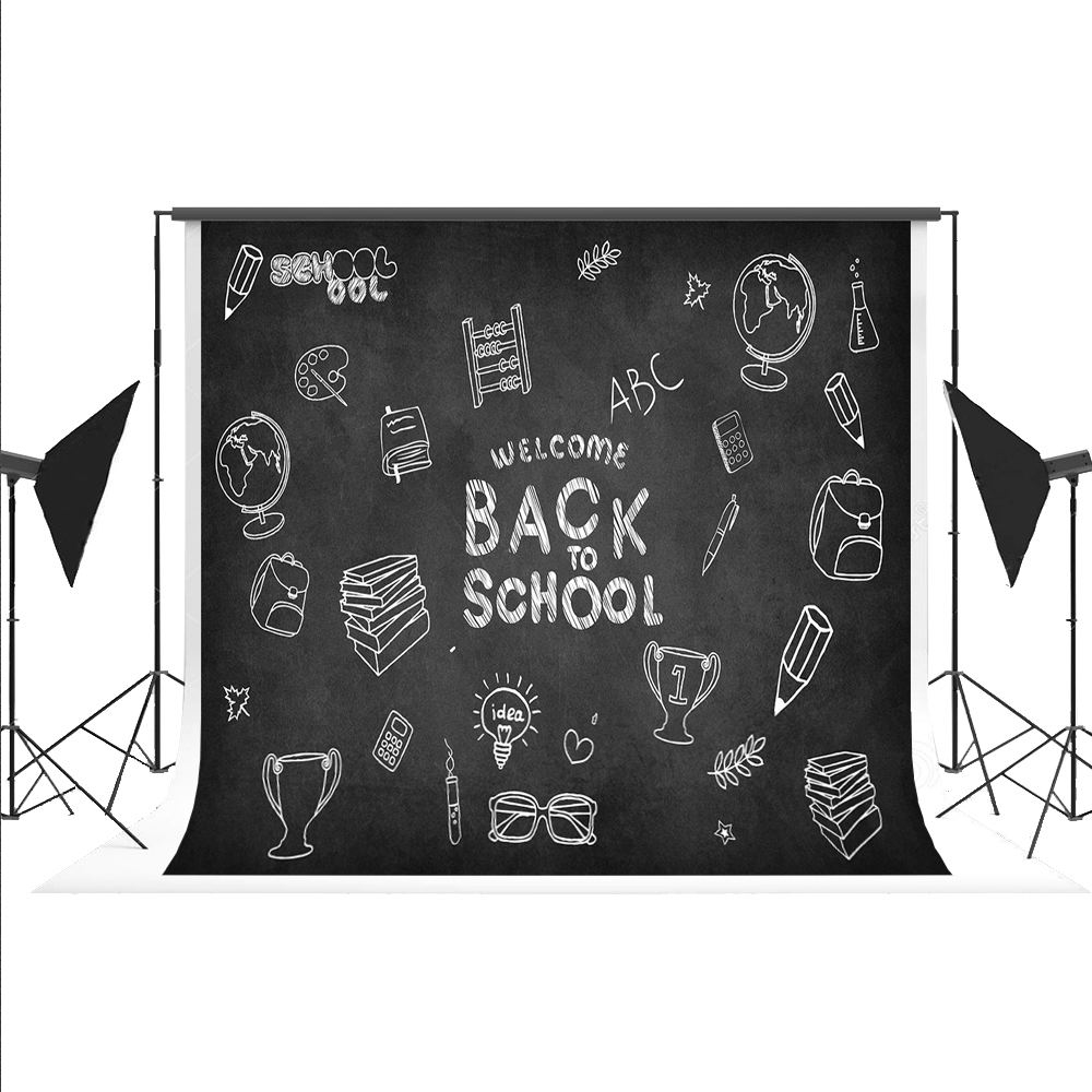 Kate Back To School Photography Background For Children Blackboard Pencil Backdrops for Studio Photos Fond 7x5ft<br>