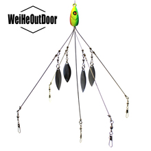 Alabama Umbrella Fishing Rig Lure 21.5cm 18g Fishing Lure Stainless Snap Swivel Spinner Sea Fishing Peche Tackle Pesca Leurre(China)