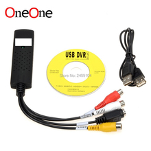 OneOne USB 2.0 Easycap tv dvd vhs video Capture adapter Easy cap card Audio AV mmm for vista win8 win7 XP wholesale 50pcs/lot(China)