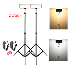 Photo Studio set 2x Viltrox L132T Bi-Color Dimmable LED Video Light + 2x Light Stand +2x AC Adapter for DSLR Camera Photo(China)