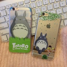 0.3mm Slim Cute Japan Cartoon Anime Style my neighbor totoro Series Sit on the Tree Case For iPhone 7 7Plus SE 6 6s 6Plus Cases