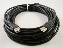 3m BLACK USB 2.0 EXTENSION Cable A Male Plug to A Female M/F Extender Lead With magnetic shielding