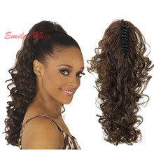 "21""  Hairpieces Tails Curly Ponytail Women's Natural Hair Tail Fake Ponytails Claw Clip Pony Tail Women's Tail on the Belt"