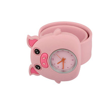 Cute Chilrdren Slap Watch Cute Pink Pig Slap Watches Detachable Dial for Kids Baby Cool Birthday Girt LL(China)